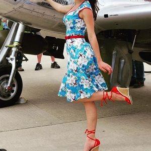 PUG Pinup Airplane Dress